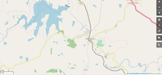 Map Rose Cottage - KwaZulu Natal Midlands in Nottingham Road  Midlands  KwaZulu Natal  South Africa