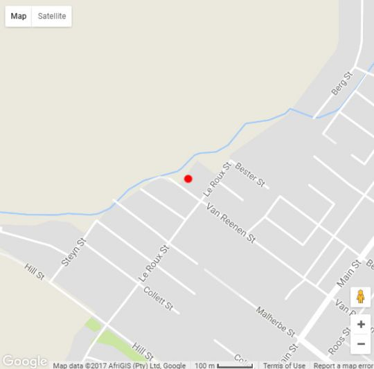 Map Hopton House in Clarens  Thabo Mofutsanyana  Free State  South Africa