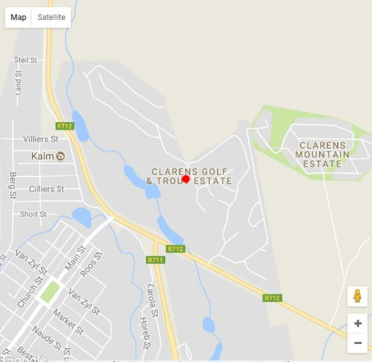Map Saints Rest in Clarens  Thabo Mofutsanyana  Free State  South Africa