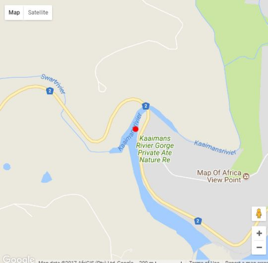 Map Kaaimans River House in Wilderness  Garden Route  Western Cape  South Africa