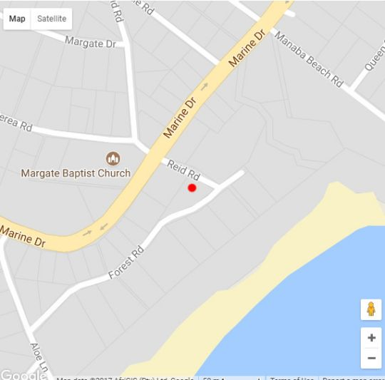 Map Sunset Cove in Manaba Beach  South Coast (KZN)  KwaZulu Natal  South Africa