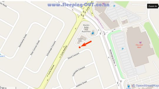Map Ayjays Guest House in Bloemfontein  Mangaung  Free State  South Africa