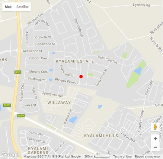 Map The Baobab  in Kyalami  Midrand  Johannesburg  Gauteng  South Africa