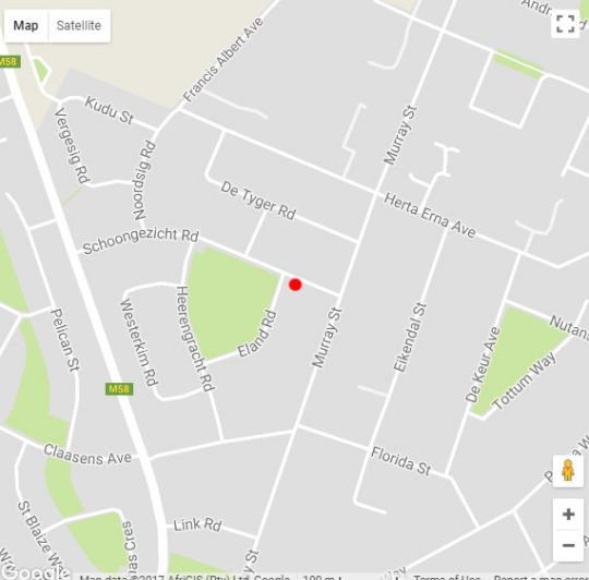 Map Schoongezicht Guest House in Durbanville  Northern Suburbs (CPT)  Cape Town  Western Cape  South Africa