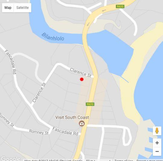 Map 4 Crayfish in Ramsgate  South Coast (KZN)  KwaZulu Natal  South Africa
