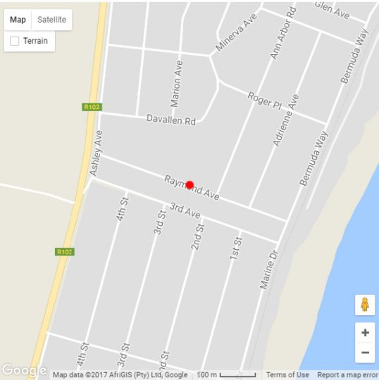 Map The Little House in Scottburgh  South Coast (KZN)  KwaZulu Natal  South Africa