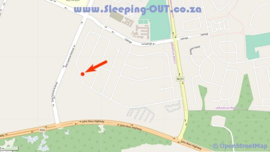 Map Cassiandra Place in Richards Bay  Zululand  KwaZulu Natal  South Africa