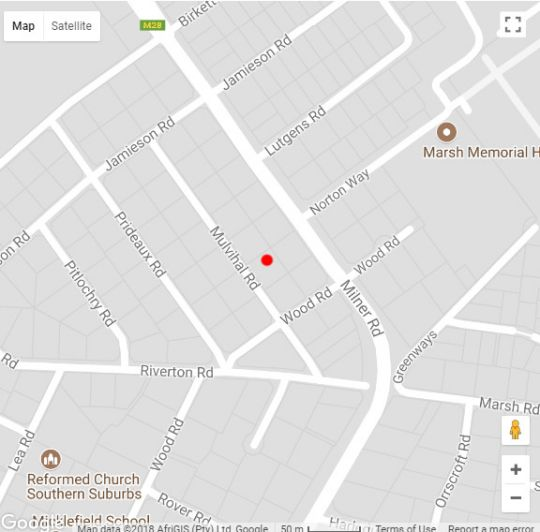Map Watermeyer House in Rondebosch  Southern Suburbs (CPT)  Cape Town  Western Cape  South Africa