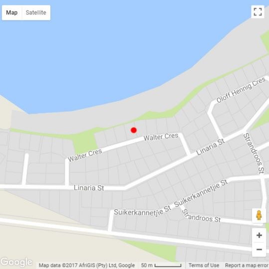 Map The Beach House in Britannia Bay  West Coast (WC)  Western Cape  South Africa