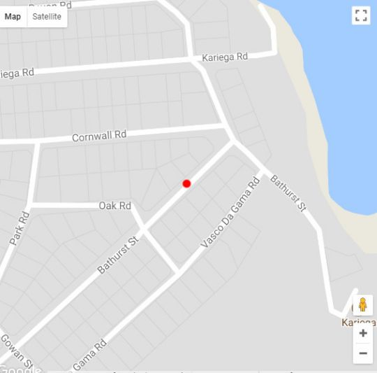 Map Kenton Beach Cottages in Kenton-on-Sea  Cacadu (Sarah Baartman)  Eastern Cape  South Africa