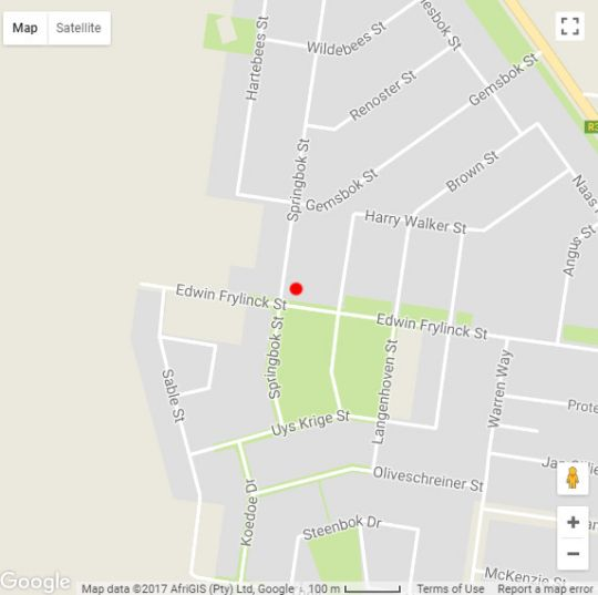 Map Safari Guesthouse in Vryburg  Bophirima  North West  Zuid-Afrika