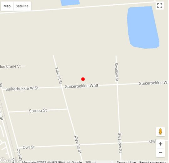 Map New Hunters Moon in Joostenbergvlakte  Northern Suburbs (CPT)  Cape Town  Western Cape  South Africa
