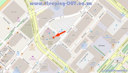 Map Icon 1008  in Cape Town CBD  City Bowl  Cape Town  Western Cape  South Africa