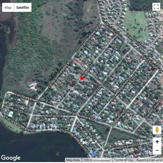 Map Garden Route Island Guesthouse in Sedgefield  Garden Route  Western Cape  South Africa