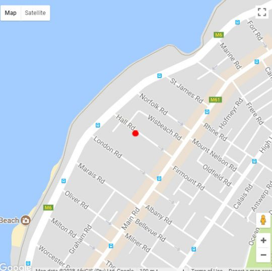 Map Sausalito in Sea Point  Atlantic Seaboard  Cape Town  Western Cape  South Africa