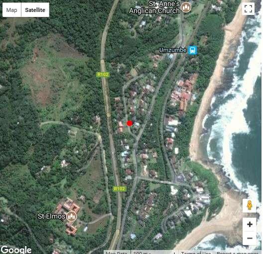 Map Ridge View in Umzumbe  South Coast (KZN)  KwaZulu Natal  South Africa