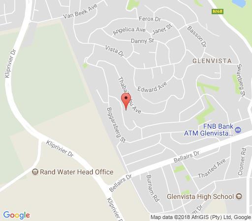 Map Map\'s View Guesthouse in Glenvista  Johannesburg South  Johannesburg  Gauteng  Südafrika