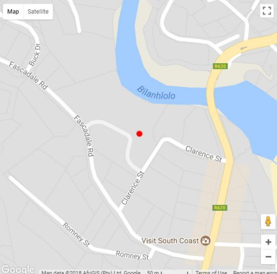 Map Providence 71 in Ramsgate  South Coast (KZN)  KwaZulu Natal  South Africa
