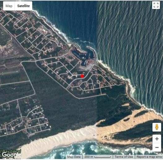 Map Quarter Deck in St Francis Bay  Cacadu (Sarah Baartman)  Eastern Cape  South Africa