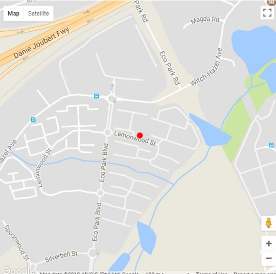 Map Clear Water Apartments in Highveld Park  Centurion  Pretoria / Tshwane  Gauteng  South Africa