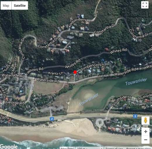 Map Wings House & Wings Cottage. in Wilderness  Garden Route  Western Cape  South Africa