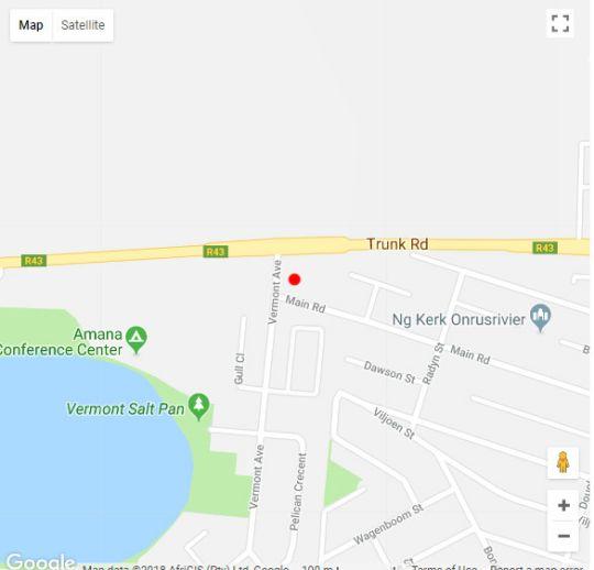 Map Hermanus Holiday Rentals in Hermanus  Overberg  Western Cape  South Africa