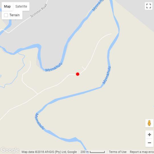 Map Nguni Moon Tepee Camp in Underberg  Southern Drakensberg  Drakensberg (KZN)  KwaZulu Natal  South Africa