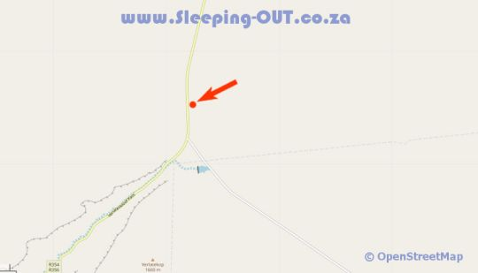 Map Rogge Cloof in Sutherland  Hantam Karoo  Northern Cape  South Africa