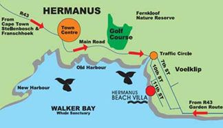 Map Hermanus Beach Villa in Hermanus  Overberg  Western Cape  South Africa