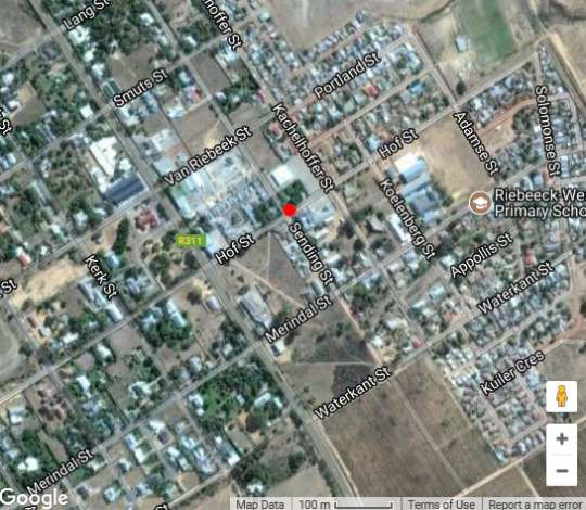 Map Ruby Rose in Riebeek West  Cape Winelands  Western Cape  South Africa