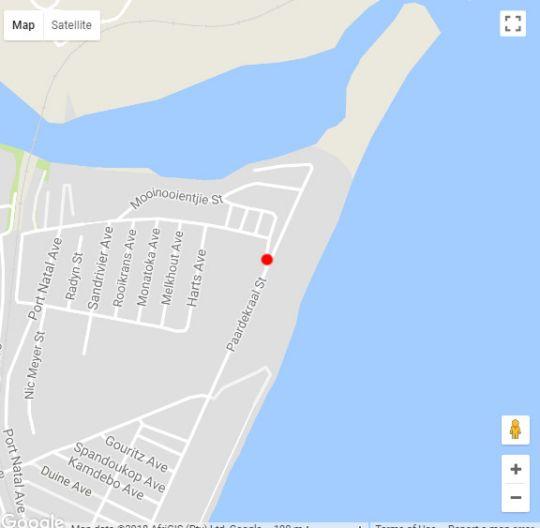Map De Branders 13 in Hartenbos  Garden Route  Western Cape  South Africa
