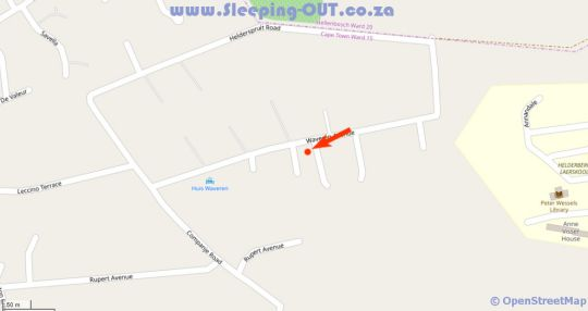 Map Agape Apartments in Somerset West  Helderberg  Western Cape  South Africa