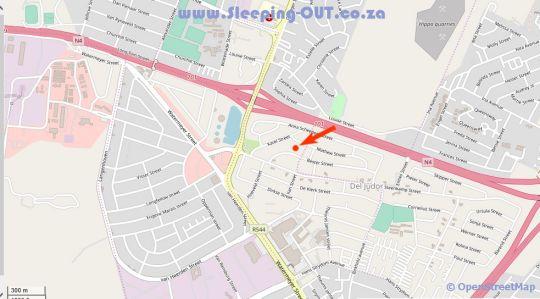 Map Lamarique in Witbank  Heartland  Mpumalanga  South Africa