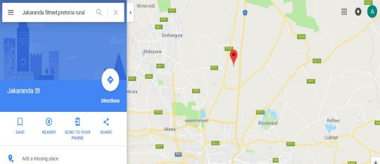 Map Stay at Jakaranda in Wallmannsthal  Pretoria North  Pretoria / Tshwane  Gauteng  South Africa