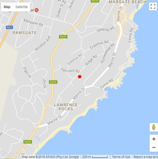 Map Dolphin View in Ramsgate  South Coast (KZN)  KwaZulu Natal  South Africa