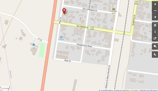 Map Boutique Guesthouse Mariental in Mariental  Hardap  Namibia