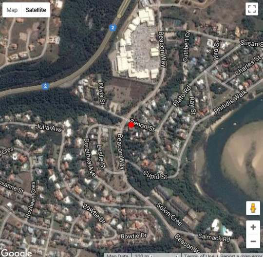 Map Swallow\'s Nest in Plettenberg Bay  Garden Route  Western Cape  South Africa