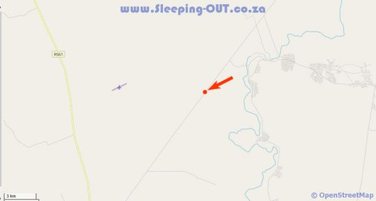 Map Zingela Nature Reserve in Tolwe  Bushveld  Limpopo  South Africa
