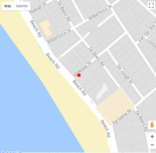 Map Beach Apartment Romilly in Strand  Helderberg  Western Cape  South Africa