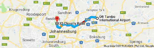 Map 32 On Clovelly in Greenside  Northcliff/Rosebank  Johannesburg  Gauteng  South Africa