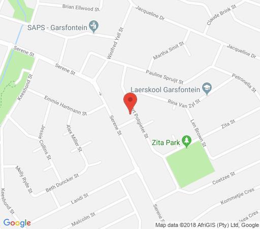 Map Menlyn Apartments in Garsfontein  Pretoria East  Pretoria / Tshwane  Gauteng  South Africa