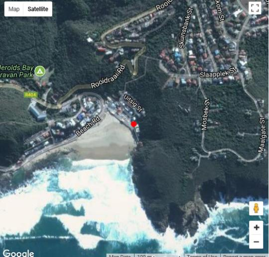 Map Oupa se Pitte in Herold's Bay  Garden Route  Western Cape  South Africa