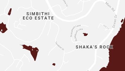 Map Simbithi Retreat in Ballito  North Coast (KZN)  KwaZulu Natal  South Africa