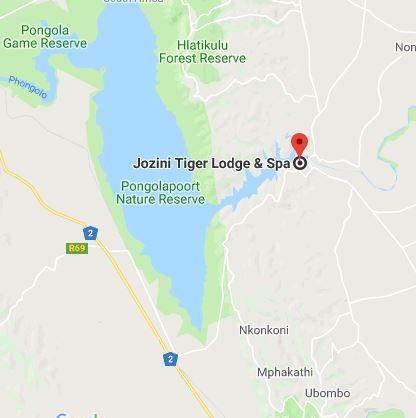 Map Shayamanzi Houseboats in Jozini  Zululand  KwaZulu Natal  South Africa