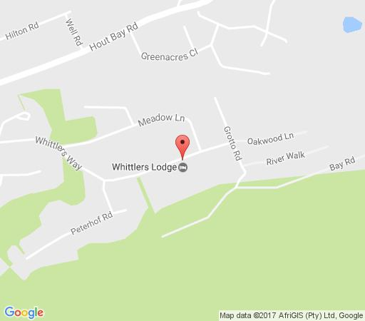 Map Whittlers Lodge in Hout Bay  Atlantic Seaboard  Cape Town  Western Cape  South Africa