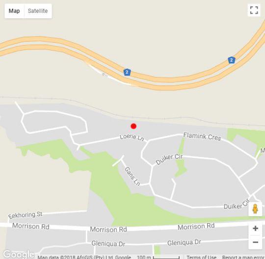Map C-nic Route Glentana in Glentana  Garden Route  Western Cape  South Africa