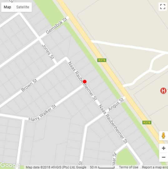Map De Hoek Guest House in Vryburg  Bophirima  North West  South Africa