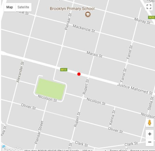 Map Black Olive Guest House in Brooklyn (PTA)  Pretoria Central  Pretoria / Tshwane  Gauteng  South Africa