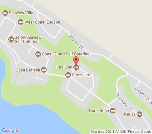 Map Kaalvoet in Yzerfontein  West Coast (WC)  Western Cape  South Africa