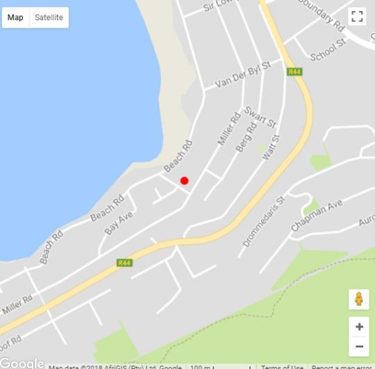 Map Brandhuis in Gordon's Bay  Helderberg  Western Cape  South Africa